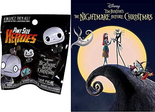 Disney The Nightmare Before Christmas DVD Animated Movie + Halloweentown Funko Mini Figure Pint Sized Heroes Set Bundle