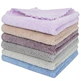 SUNLAND Microfiber Face Cloth Makeup Remover Cloth Reusable Facial Cleansing Towel Ultra Soft Face Washcloth 11inchx 11inch 6 Pack