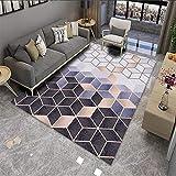 Geometrischer Mosaik Teppich Einfache Wohnzimmer Schlafzimmer Couchtisch Kissen Sofa Decke Bad Küchentür Matte Dick rutschfest