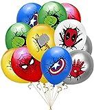 MOCEJOE Superhero Balloons, 24PCS Latex Avengers Balloons Superhero Avengers Theme Decorations Kits for Children's Birthday Parties