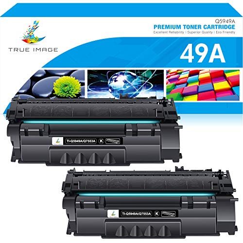 True Image Compatible Toner Cartridge Replacement for HP 49A Q5949A 53A Q7553A 49X Q5949X HP Laserjet 1320 1320n 3390 1160 1320tn 1320nw 3392 P2015 P2015dn Toner Cartridge (Black, 2-Pack)