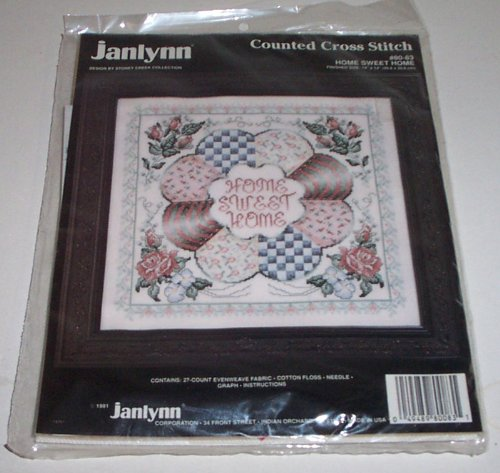 Janlynn Home Sweet Home Counted Cross Stitch Kit
