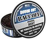 BaccOff, Original Mint Rough Cut, Premium Tobacco Free, Nicotine Free Snuff Alternative (1 Can)