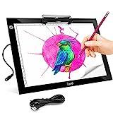 Zecti Mesa de Luz A4, LED Tableta de Luz A4 Portátil con USB 4mm...