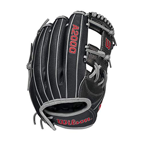 Wilson A2000 Spin Control Fastpitch H12 w SuperSkin (Infield) - Right Hand Throw,12 ,Black, Large, WBW10022112