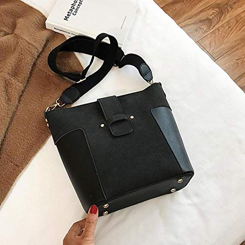 PJY Grote Tas Voor Vrouwen Grote Capaciteit Verzendtas Messenger Bag Vrouwelijke Crossbody Tassen Pu Lederen Schoudertas, Zwart
