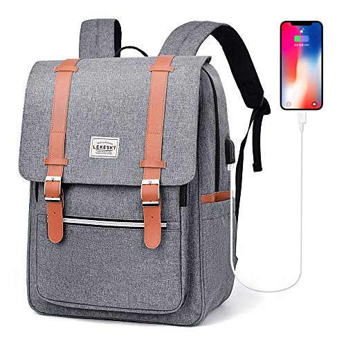 Lekesky Laptop Backpack for Women Vintage Backpack College School 156 Inch