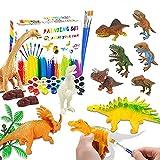 Goorder Dino Anmalen & Malset für Kinder, 3D DIY Dinosaurier Spielzeug ab 4 5 6 7 8 Jahre, 47 Stück Bastelset für Junge Mädchen, Dino Basteln, Creative Geschenk zum Kindergeburtstag Weihnachten