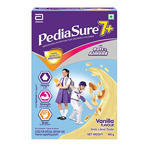 Pediasure 7+ Specialized Nutrition Drink Powder for Growing Children Vanilla Flavour 400 gm
