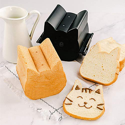 Ruim Toast Bread Baking Molds, Cute Cat Shape Bread Toast Mold Aluminized, Non-Stick Bread and Loaf Pans for Home Kitchen Toast Oven Baking, M(110X120X127) mm, With Lid