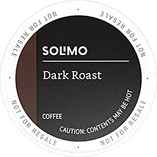 Amazon Brand - 100 Ct. Solimo Dark Roast Coffee Pods, Compatible with Keurig 2.0 K-Cup Brewers