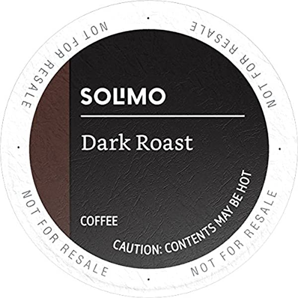 Amazon Brand 100 Ct Solimo Dark Roast Coffee Pods Compatible With Keurig 2 0 K Cup Brewers