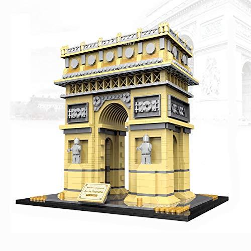 FIZZENN Arquitectura Juguetes educativos mundialmente Famoso Arco de Triunfo en París Building Blocks Establece clásicos Juegos de construcción Regalo para el Cabrito y Adulto