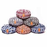 Cuscino da yoga tondo classico con cerniera /42x15 cm/ cuscino da meditazione riempito con pula di farro bio –ideale come cuscino zafu/per yoga e meditazione/lavabile in lavatrice. In diversi colori.