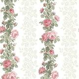 BHF Fd68733'Claremont Rose à rayures' Papier peint–Blue-p, rose, FD68735