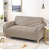 ZPEE Creatividad Seersucker Fundas De Sofá,Nórdico Enrejado Sofá Funda para 1 2 3 4 Cojín Couch,Suave Respirable Elasticidad Protector para Sofás-S 1-seat/90-140cm