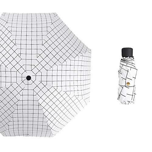 Yi-xir Komfortable Erfahrung Männer und Frauen kreativ acht Klipper erhöhen Regenschirm Luftfeuchte Wind und Regen Dual-benutzer-Sonnencreme-Falten-Mini-Sonnenschirm-Regenschirm Kompakter Reiseschirm