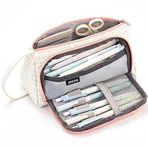 NYSYZSM 20 colores de gran capacidad para lápices, estuche escolar, estuche para lápices, estuche escolar, 21,5 cm x 11 cm PinkLine