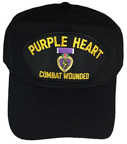 Purple Heart Combat Wounded HAT - Black - Veteran Owned Business