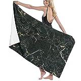 Toallas Baño Ultra Suave de Microfibra de Gran tamaño Manta de Secado rápido Toalla Playa de mármol Negro Sábana de Viaje Piscina Camping Deportes Personalizados