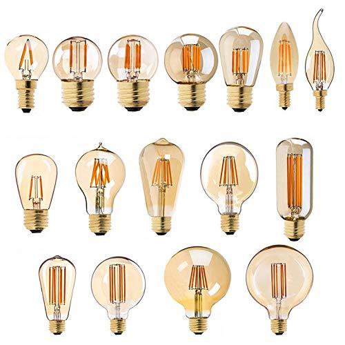 E27 Lámpara Led Bombilla De Filamento Regulable E14 220V Dorado 1W 3W...