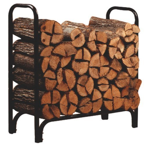Open Hearth Log Rack 4 Ft. Black Powder Coated