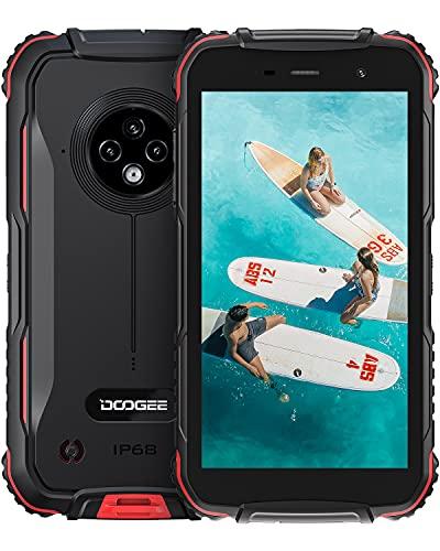 Móvil Resistente, DOOGEE S35 [2021] Movil Libre Baratos 4G Android, 4350mAh Batería, 13MP Triple Cámara, 5.0 Corning Gorilla Glass Pantalla, 2GB + 16GB Telefono Antigolpes IP68, GPS, Face ID, Rojo