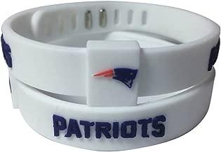 ENJOY 11 NFL Football Team Adjustable Silicone Bracelets Wristbands, a Set of Two