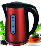 Efbe-Schott Edelstahlwasserkocher, 1,7 l Fassungsvermögen, 2000 W, Rot/Schwarz, SC WK 1020 AZ