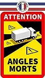 Lote de 6 adhesivos ángulo muerto para automóviles pesados, camiones pesados, autocaravanas, autoadhesivos oficiales, resistentes al agua y a los rayos UV
