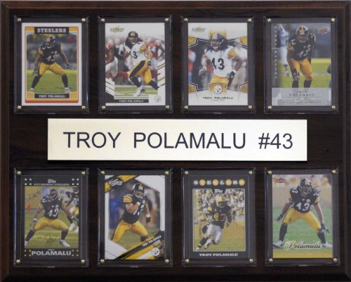 NFL Troy Polamalu Pittsburgh Steelers 8 Card Plaque