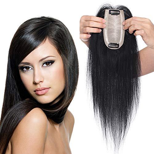 TESS Clip in Extensions Echthaar Pony HaarteilToupee Haarverlängerung Lace Front Closure Toupet für Frauen 12
