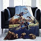 Jreergy Flannel Throw Blanket - Duck Hunting Throw Blanket,All Season Fuzzy Cozy Soft Blanket,Warm Blanket for Couch Bed Sofa and Adult Kid
