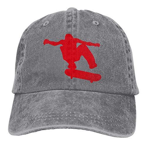 XCNGG Herren Skateboard Skater Skater Garngefärbte Denim Baseballkappe Verstellbarer Street Rapper Hut