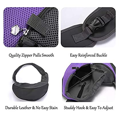 EVBEA Dog Carrier Sling Front Pack Puppy Carrier Purse Breathable Mesh Travel for Small or Medium Pet Dogs Cats Sling Bag 4