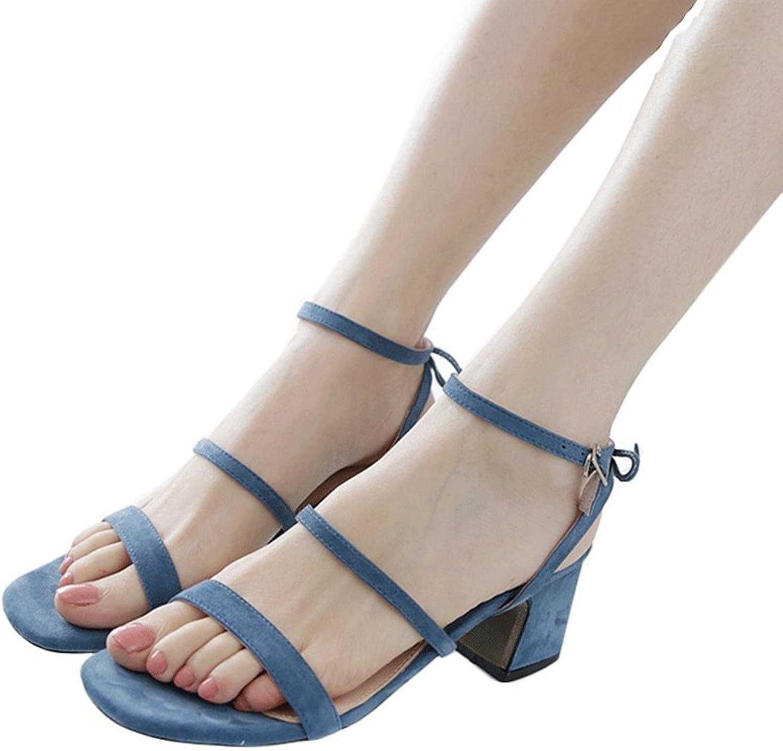 Traumfänger Frauen Bowknot Schaffell Knöchelriemen Knöchelriemen Knöchelriemen Sandalen Fashion Elegant High Heels (Farbe   Blau, größe   39)  fe06e4