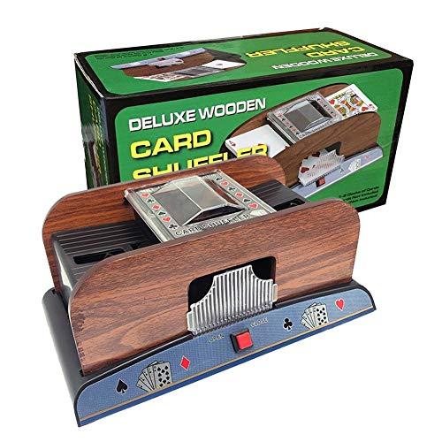 TX GIRL Holzspielkartenmischgerät for 2 Decks Große Karten Automatische Poker-Karten-Karten Mischen Plastikspielspielkarten Shuffler Casino Equipment (Size : 2 Decks)