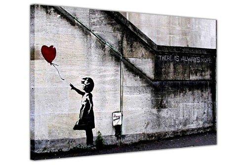 BANKSY CANVAS Muur kunstdrukken er is altijd HOPE rood ballon meisje foto PRINTING huis DECORATIE kamer DÉCOR foto's