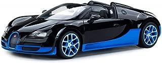 Radio Remote Control 1/14 Bugatti Veyron 16.4 Grand Sport Vitesse Licensed RC Model Car (Black/Blue)