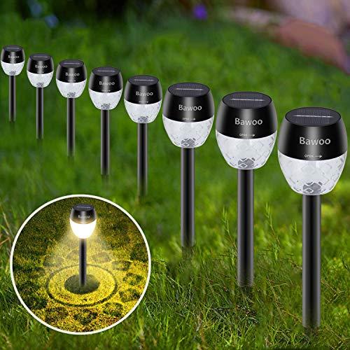 Luces Solares Jardín LED Bawoo 8 pcs IP65 Jardín Lámpara