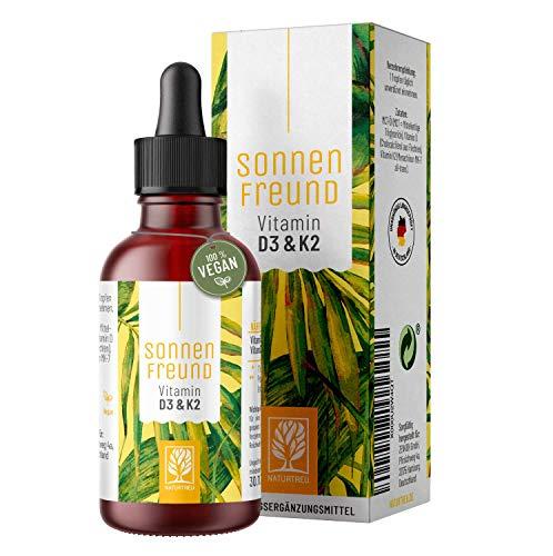 Sonnenfreund Vitamin D3 + K2 Tropfen hochdosiert und vegan