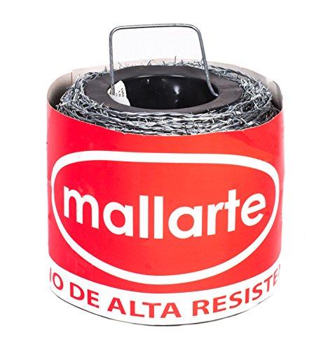 Alambre de espino galvanizado Mallarte 4/1.6/15 (250 mts lineales por rollo)