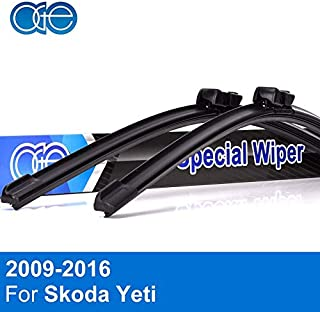 Occus Wipers OCS Front and Rear Windshield Wiper Blades for Skoda Yeti 2009-2016 Windscreen Wipers Rubber Car Accessories - (Item Length: Front and Rear Wiper)