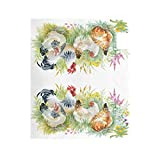 ZZKKO Floral Rooster Magnetic Mailbox Cover Wrap Post Letter Box Cover for Outside Garden Home Decor Standard Size 20.8 x 18 Inch