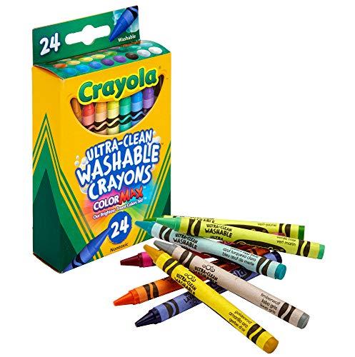 Crayola Washable Crayons, School Supplies, 24 Count