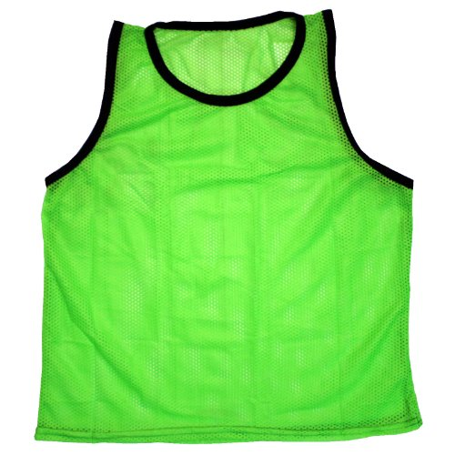 BlueDot Trading Youth Sports Pinnie Scrimmage Training Vest, Green, 1 Pack