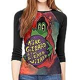 maichengxuan King Gizz-ard and The Liz-ard Wizard Camisetas Mujeres Vogue Sudaderas Cuello Redondo Sudadera Top Blusas