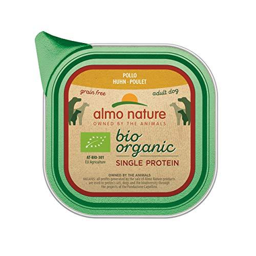 almo nature Bio mouillé Nourriture pour Chien avec Poulet Unique Protein- Grain Gratuit (Lot de 11x 150g Plateaux)