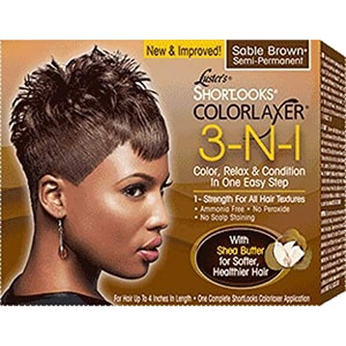Luster's Shortlooks Color Relaxer 3-n-1 Brown, 1count