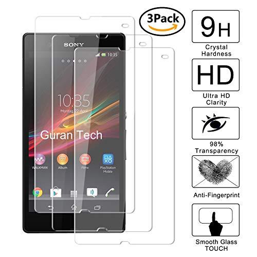 "Guran [3-Unidades] Protector de Pantalla Vidrio Cristal Templado para Sony Xperia Z (5.0"") Smartphone Cristal Vidrio Templado Film (9H, 2.5D Edge, 0.3mm)"